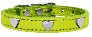 Metallic Heart Leather Lime Green MTL 14