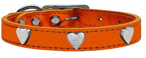 Metallic Heart Leather Metallic Orange 14