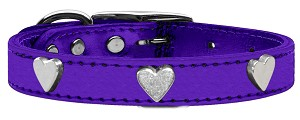 Metallic Heart Leather Purple MTL 20