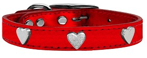 Metallic Heart Leather Red MTL 18