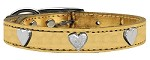 Metallic Heart Leather Gold 10