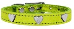 Metallic Heart Leather Lime Green MTL 10