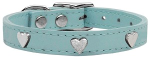 Heart Leather Baby Blue 18