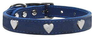 Heart Leather Blue 24