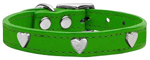 Heart Leather Emerald Green 20