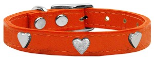Heart Leather Orange 10