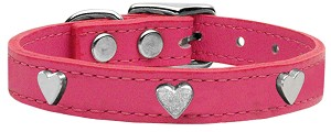 Heart Leather Pink 24