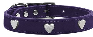 Heart Leather Purple 16