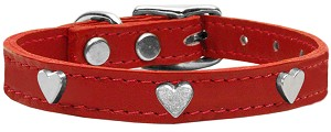 Heart Leather Red 16