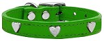 Heart Leather Emerald Green 10