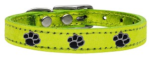 Metallic Paw Leather Lime Green MTL 14