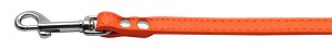 Fashionable Leather Leash Orange 1/2'' Wide
