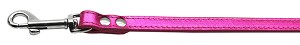 Fashionable Leather Leash Metallic Pink 1/2'' Wide