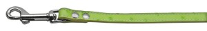 Faux Ostrich Leash Lime Green 3/4'' Wide