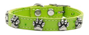 Faux Ostrich Paw Leather Lime Green 14