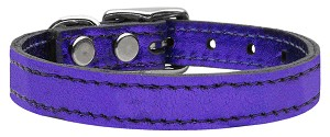 Plain Metallic Leather Metallic Purple 24