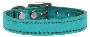 Plain Metallic Leather Turquoise 22