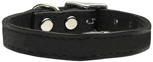 Plain Leather Collars Black 20