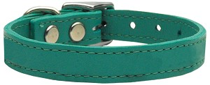 Plain Leather Collars Jade 24
