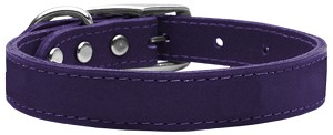 Plain Leather Collars Purple 22