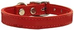Plain Leather Collars Red 10