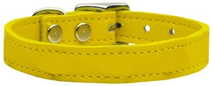 Plain Leather Collars Yellow 10