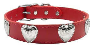 Western Heart Leather Red 24