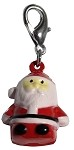 Hand Painted Christmas Bell Charm Santa