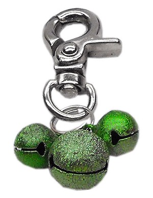 Lobster Claw Bell Charm Emerald Green