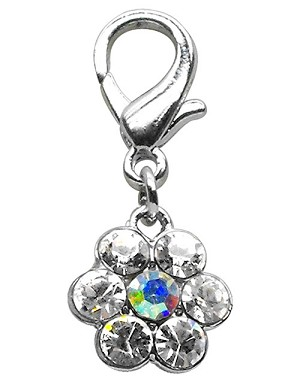 Lobster Claw Flower Charm Clear