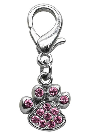 Lobster Claw Paw Charm Pink