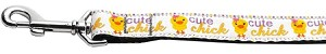 Cute Chick Nylon Ribbon Collars 1 wide 6ft Leash