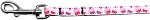 Pink and Purple Cupcakes Nylon Ribbon Pet Leash 3/8 inch wide 4Ft Lsh