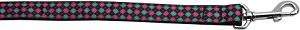 Pink and Blue Plaid 1 inch wide 6ft long Leash