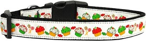 Christmas Cupcakes Dog Collar Medium
