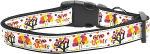 Give Thanks Dog Collar Medium