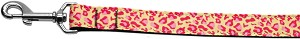 Tan and Pink Leopard Nylon Dog Leashes 4 Foot Leash