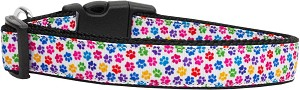 Confetti Paws Nylon Dog Collars Large