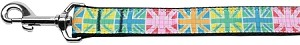 Multi-Color UK Flag Nylon Dog Leash 6 Foot