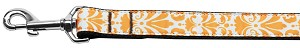 Damask Nylon Dog Leash 4 Foot Orange