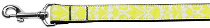 Damask Nylon Dog Leash 6 Foot Yellow