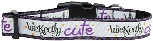 Wickedly Cute Nylon Dog Collar Medium