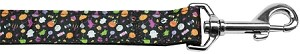 Halloween Confetti Nylon Dog Leash 4 Foot