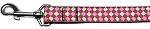 Pink Checkers Nylon Dog Leash 1 wide 4ft Lsh