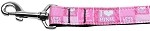 I Heart Pink Nylon Dog Leash 3/8 inch wide 4ft Long