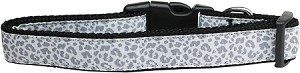 Silver Leopard Nylon Dog Leash 4 Foot