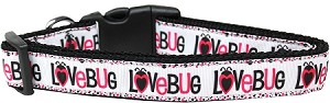 Love Bug Nylon Dog Collar Medium