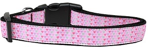 Many Mini Hearts Nylon Dog Collar Large
