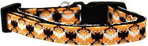 Bat Argyle Nylon Dog Collar Cat Safety