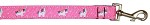 Pink Unicorn Nylon Pet Leash 1in by 4ft